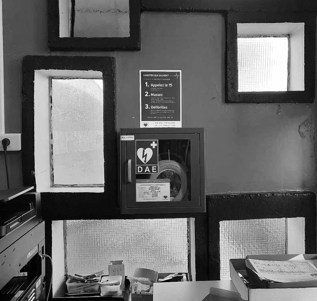 Le Corbusier À Coeur Vaillant Défibrillateurs Photo