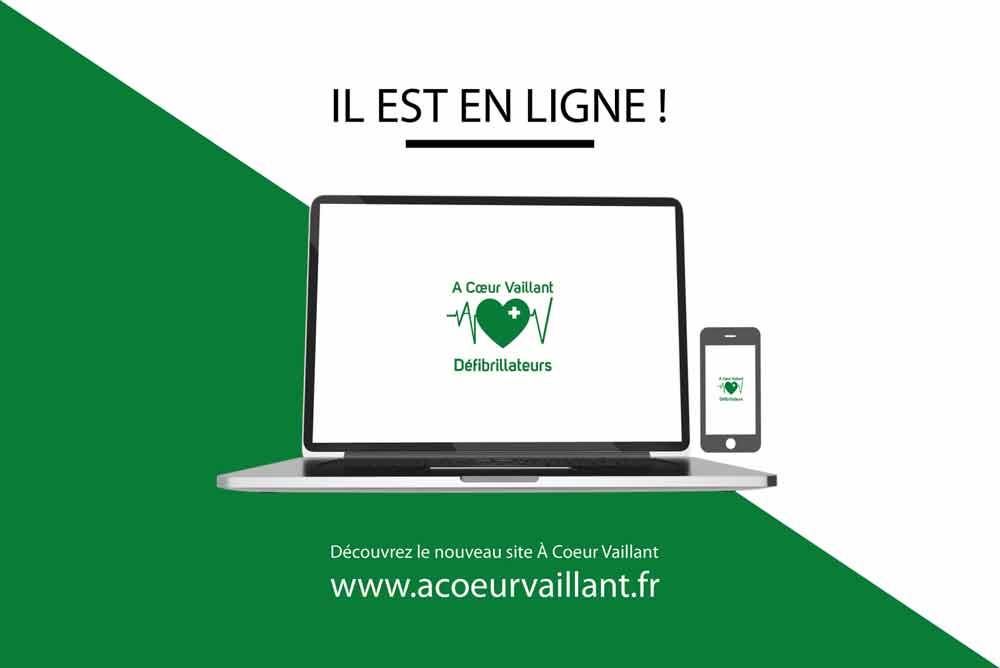 """Création du nouveau Site internet """"À Coeur Vaillant Défibrillateurs"""""""