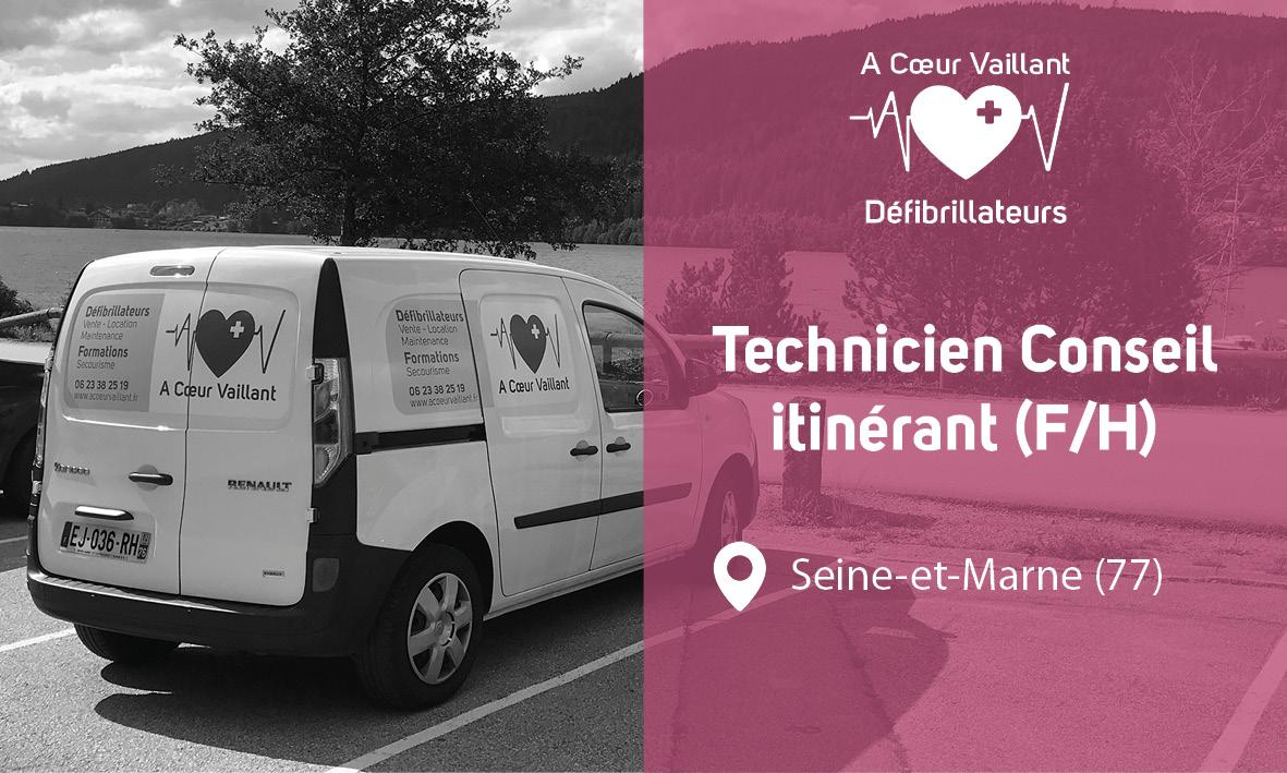Recrutement technicien itinérant A Coeur Vaillant Défibrillateurs