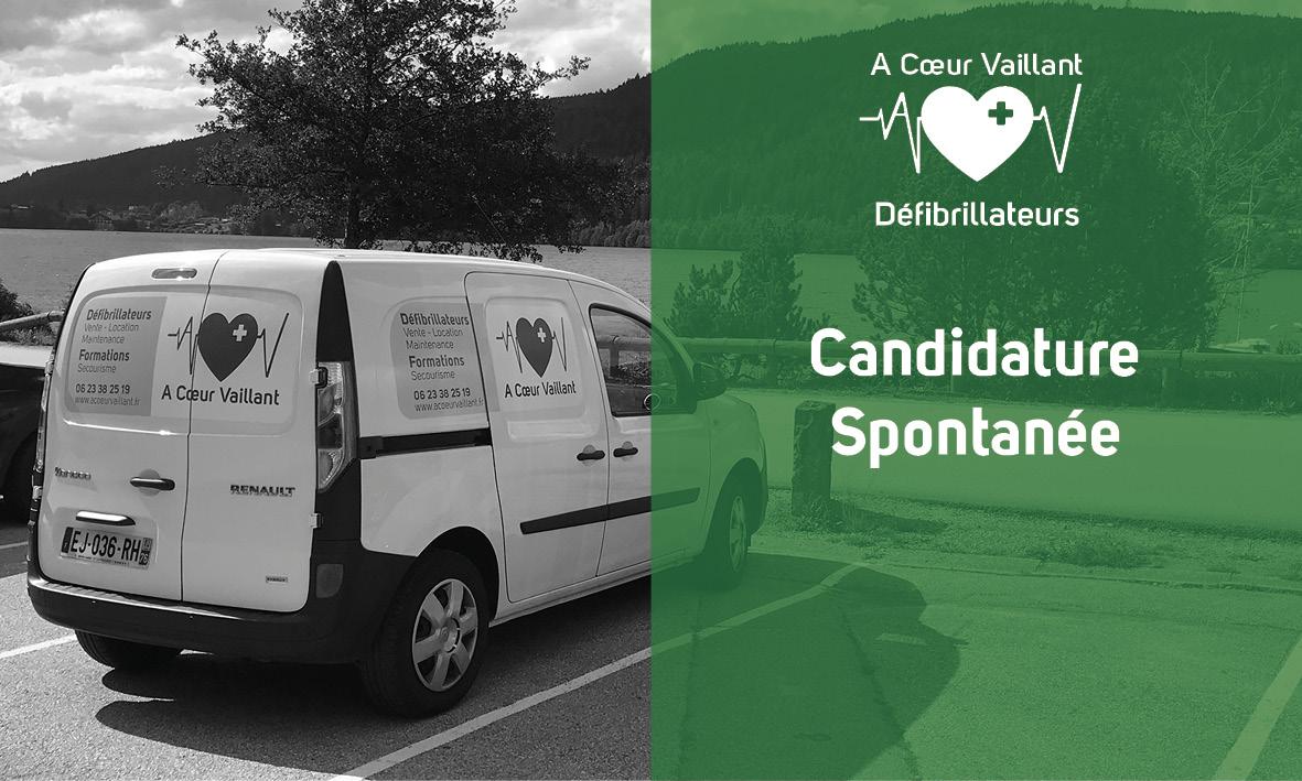 candidature spontanée A Coeur Vaillant Défibrillateurs